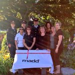 Barrie Police and MADD Canada in Heritage Park today for the unveiling of the new MADD bench #rock95 #MADDCanada http://t.co/sUuEKMkdnc