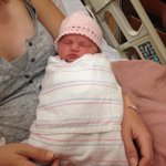 Meet Roxy. She was born this morning in a #Mesa parking lot! Dad helped with the delivery! @12News http://t.co/5V5F4czPng