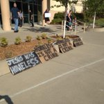 RT @JSzydlowski_RS: Hes also set up these signs outside the auditorium for town hall. #TakeBackRedding http://t.co/XEa0WgLh5z