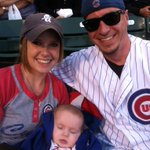 Got our pic taken by @darlene_hill at the #Cubs game!!! Thanks Darlene!! http://t.co/TGINH6ZolD