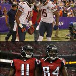 Who is the better wide receiver duo? RT for Brandon Marshall and Alshon Jeffery FAV for Roddy White and Julio Jones http://t.co/edrln7sark