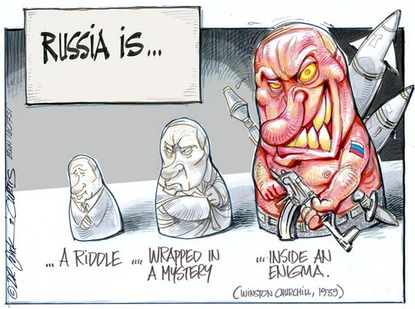 #EWNCartoon: The Riddle of Russia - by Dr Jack & Curtis of @africartoons #Russia