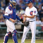 "Baker: ""Hey Travis, you want me to pitch?"" (Tribune photo/Chris Sweda) #cubs http://t.co/UGubdy7ZBl"