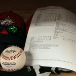 The game ball from tonights final out and the printed box score are sitting in Tyler Cloyds @CLBClippers locker. http://t.co/Xt9lDyaUTd