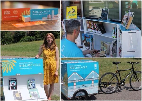 Just when I thought the @BPLBoston couldn't get any cooler, they now they have a bibliocycle. #swoon http://t.co/FTh42Z6U2G