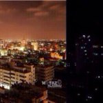 RT @iFalasteen: This is how Gaza looks with and without electricity... #GazaUnderAttack #PrayForGaza http://t.co/y96f8JMk6s