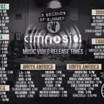 RT @5SOS_PHL: 12 hours until the Amnesia music video releases! Here are the release times! http://t.co/S1gpLnY1ZA