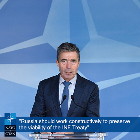 Secretary General Rasmussen on Russia and the Intermediate-Range Nuclear Forces Treaty: