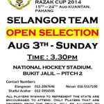 Since hockey is the hot topic at present, wanna have a go at it? Selangor HA are having selections on Sunday. http://t.co/OIXiHVU8Kd