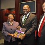 #ANCTG, Cde #Mkhize officiating the handover of ANC Centenary books to libraries in South Africa http://t.co/bGRbH00Suf