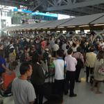 5pm - Long queues at check-in due to THAI Airways system crashing. Expect delays - RT @simonk_au: http://t.co/YI0aOauvtz #Thailand