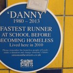 RT @NHSLeedsNorth: Our #Leeds travels brought us to this touching plaque (opposite @LeedsMetLibrary).How many are there @simonotstreets? http://t.co/lRWA6p1IXY