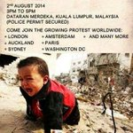 Pro-Palestinian rally, 2nd Aug,3-5pm, Dataran Merdeka,KL! Lets show our solidarity with the Palestinians. #SaveGaza http://t.co/tsGTq2pAjg