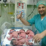 Dr. Qadoura: Despite the pain, Palestinian mother gave birth to quadruplets last night in #Gaza. http://t.co/QVfDRWOCG2
