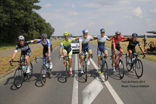 All the Australians that finished the #TDF2014  Thanks Yuzuru Sunada for the photo. http://t.co/PFZaT8M85P