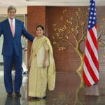 Strategic partners begin dialogue. Minister @SushmaSwaraj & Secy @JohnKerry co-chair session http://t.co/45omotcwEA
