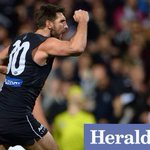 RT @heraldsunphoto: 3QT Blues 59 Freo 55 Blues have lifted, Pavs gone! Are Freo in trouble? #AFLFreoBlues @superfooty @lensman_dan #afl http://t.co/L1ozUwHgzj