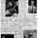 .@Tennessean front page after country star Jim Reeves body was found. He died in a plane crash 50 years ago today http://t.co/UsaZFKqcIA