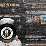 Coming October 4th @NewportFoodFest Newport City Centre will be a hive of activity make sure you are there!! http://t.co/Q9gPBZH2u3