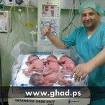 A #Palestinian woman gave birth to quadruplets in #Gaza hospital today. We dont cry, we dont die, we multiply! http://t.co/O5V6Xhbhy7