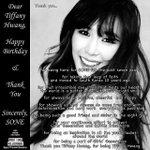 RT @SoneVIETNAMs: Dear Tiffany Hwang, Happy Birthday and Thank You Sincerely, SONE #ᄐᄑᄂᄂᄋᄌ #happybirthdaytiffany http://t.co/aDmJXCrOGv