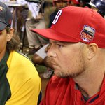 RT @MLB: #TBT: Before they were teammates in Oakland, Jeff Samardzija and @JLester31 chatted at the #HRDerby. #TradeDeadline http://t.co/6xXDkmZ57Z