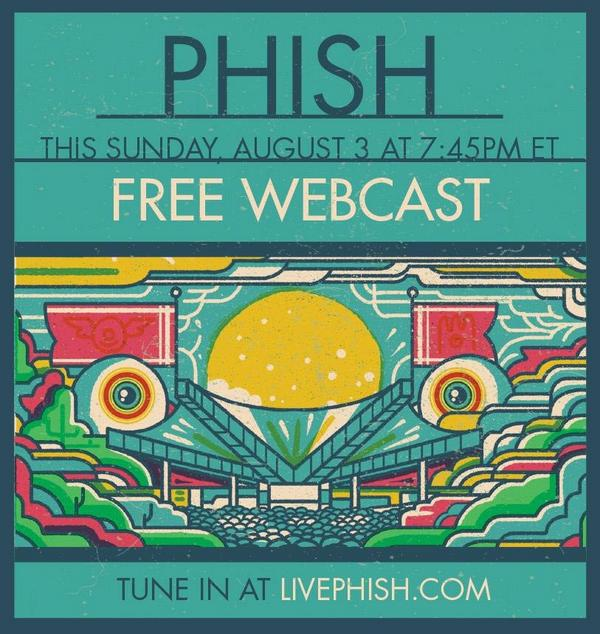 Phish will offer a totally FREE live webcast of their sold-out show this Sunday, August 3rd at http://t.co/YqqEU7gm4G http://t.co/cgWo0XpgOG