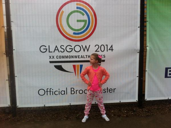 We love this #MatildaPose snap, taken by Kerry Jane Whitty at #Glasgow2014!