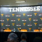 Butch about to take the podium. Nice backdrop for the Vols this year. He should be going for 30 minutes then players. http://t.co/aggZEpDUpN
