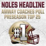 The National Champs start this fall where they left off - at No. 1! #Noles claim top spot in Preseason Coaches Poll. http://t.co/PipES5jx4u