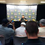 Butch Jones addressing the media before camp starts tomorrow http://t.co/qo7KVGsH4x