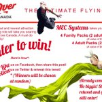 RT @MECSystemsInc: The countdown starts now! Today is your last chance to enter the @FlyOverCanada #contest! #Chilliwack #YVR http://t.co/R4CxKJA2qV