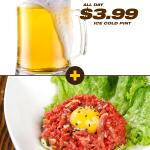 #KoreanStyle #BeefSashimi w egg yolk & sesame dressing. #HappyHour price - $6.3! Fantastic with #Beer #Vancouver #육회 http://t.co/g93FWsKz6a