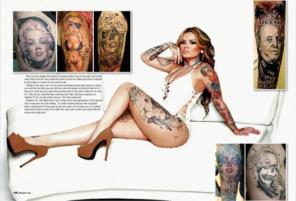 #ThrowbackThursday with the beautiful and talented @TATUBABY from #RebelInk #24 http://t.co/6OrKvRyPbG http://t.co/054JHZUj2o