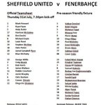 RT @SUFC_tweets: The official teamsheet for tonights historic friendly. #sufc #twitterblades #soma #Fenerbahce http://t.co/RwRSgu2vfM