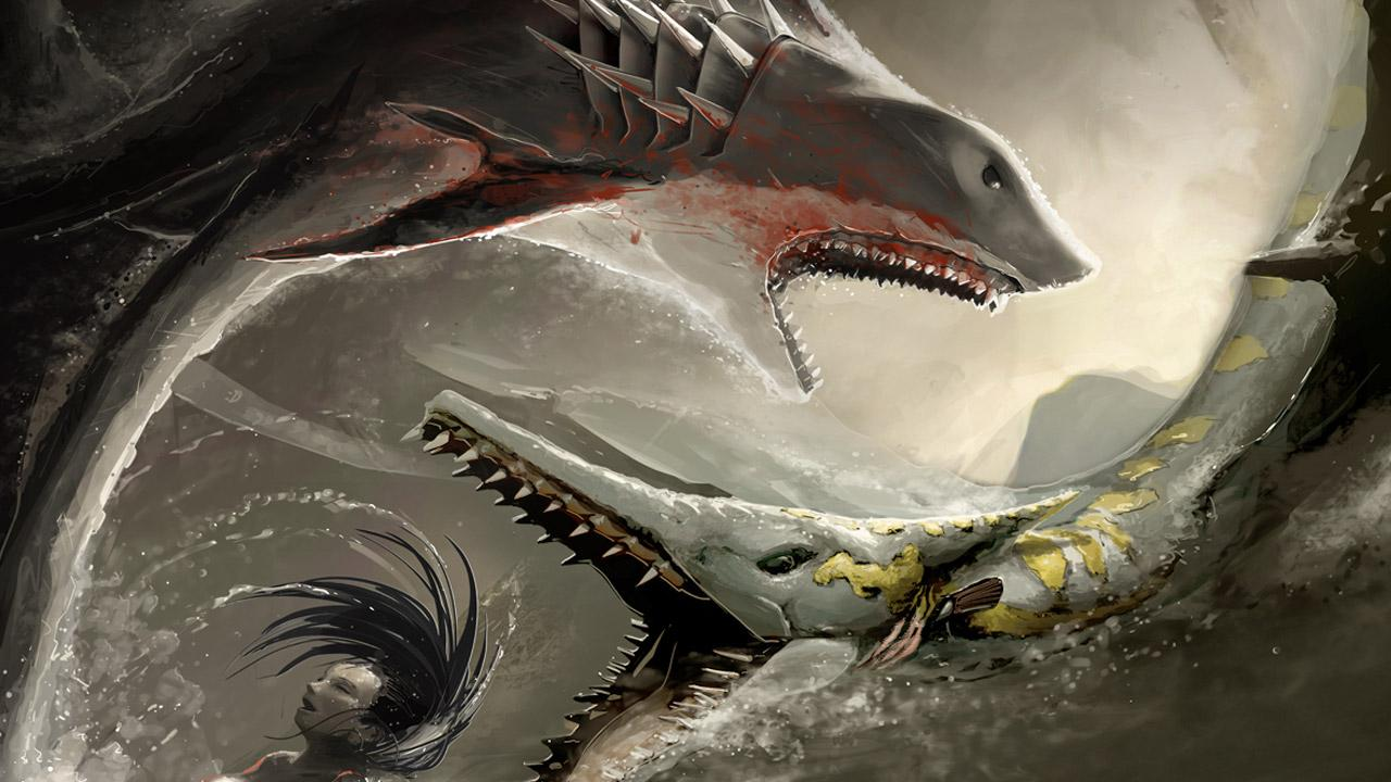 design deck  Sharktopus Wallpaper