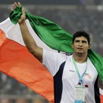 Namma Vikas Gowdru wins gold in the mens discus throw. Good job. But Olympic medal must be his target. http://t.co/j5z0YCQtQS
