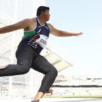 RT @FirstpostSports: GOLD!!! V Gowda wins discus throw final (63.64)! First medal in athletics!! #CWG2014 Live: http://t.co/v6VfLxMvi9 http://t.co/w0cVAzA1GI