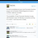 RT @GunnerNumberONE: Diego Reuda, a respected journalists tweet regarding Quintero to Arsenal switch, translated to English.. http://t.co/z6iRkLdV6n