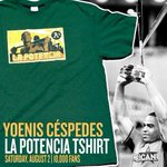 RT @Yahoo: Awkward! #Athletics giving away T-shirt of just-traded slugger Yoenis Cespedes on Saturday: http://t.co/xWf89MWuMb http://t.co/hcj3MpXAFA