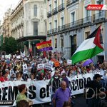 RT @GazaGlobal: #Madrid take to the streets against the genocide in #Gaza #FreePalestine #GazaUnderAttack @WeSupportGaza http://t.co/eSYYOYDCNR
