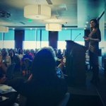 The amazing Geena Davis...in #Boise @ZionsBank talking about @GDIGM http://t.co/444F3KDu6Z