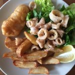 RT @RBDigiMedia: Check it out! Homemade chips & salad with micro haddock & calamari from @SimmoniteDivSt #sheffield. All home cooked. http://t.co/RK8QUritNZ