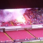 Fenerbahce pyro at Sheffield United tonight http://t.co/SRQiXjuzTc