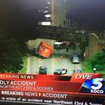 RT @KOCOJessica: BREAKING: container fell off truck and landed on another truck, killing the driver - NE 23rd and Sooner. #koco http://t.co/MFgbrTYZTD
