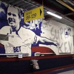 RT @Kevin__Davies: Heard some graffiti artist has been vandalising The North Stand Lower at The Reebok, sorry The Macron!! http://t.co/ApEYp55DZj