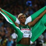 RT @SlyBlackman: @BBCSport: Blessing Okagbare wins gold for Nigeria in d 200m,completing #Glasgow2014 sprint double #WeAreOneNigeria http://t.co/AfN4ltwNbD