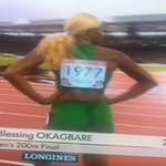 RT @KathleenNdongmo: Yep....its #Nigerias Blessing Okagbare again with the 200m gold! Yes! What a sprinter. #CommonwealthGames http://t.co/FpkyI1RvMZ