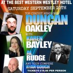 On Sat Sep 20th were at @westleyhotel in #AcocksGreen #Birmingham with @duncanoakley, @KarenBayley and more... http://t.co/EizE7qbd41