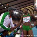 Golden duo: Ese Brume wins long jump gold for #Nigeria. #Nigerias Blessing Okagbare seals 100m/200m double. http://t.co/r5deY8FKJR